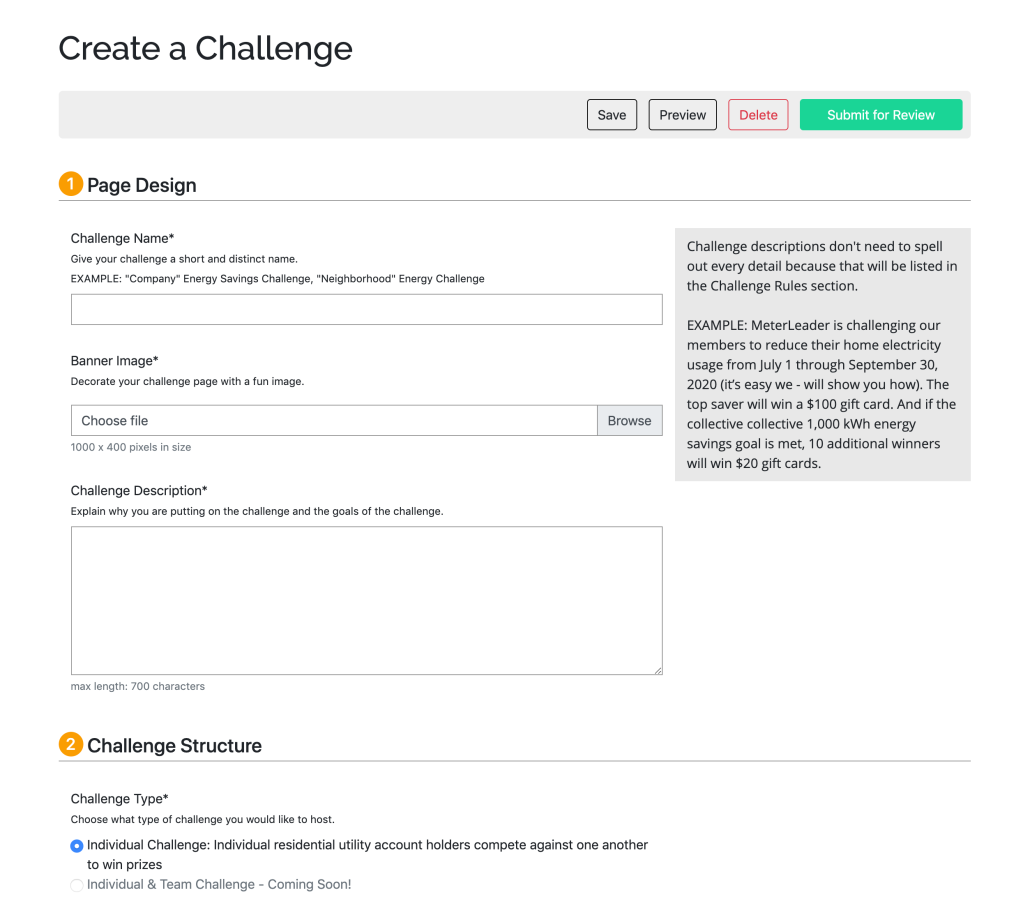 Create A Challenge with MeterLeader