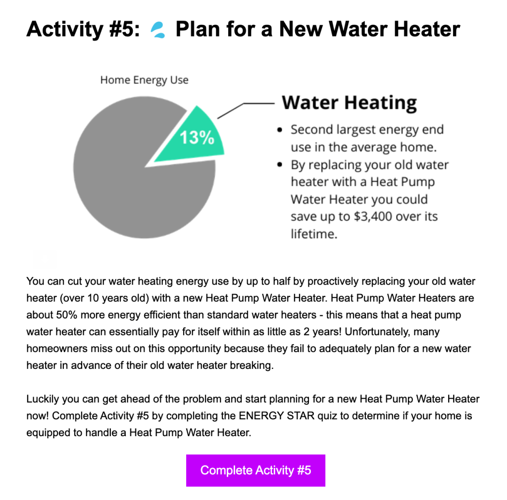 Energy Saving Activity Module